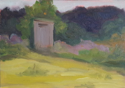 5x7 Plein Air, Bainbridge, WA