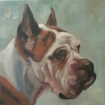 Brian, 8x8 oil on canvas